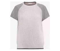 Chain-trimmed cashmere sweater