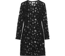 Olinie Embroidered Mesh Mini Dress Schwarz