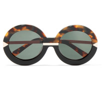 Hollywood Pool Round-frame Acetate Glasses Horn