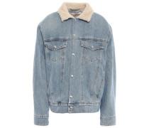 Gravity Shearling-lined Denim Jacket Mid Denim