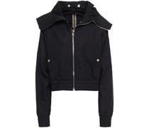 Cotton Hooded Bomber Jacket