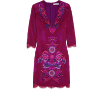 Embroidered Lace Dress Magenta