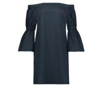 Off-the-shoulder cotton-poplin mini dress