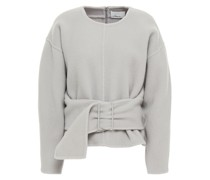 Belted Brushed Wool-blend Felt Top