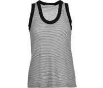 Beryl Striped Stretch-modal Tank Weiß