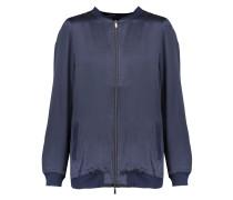 Silk-satin Bomber Jacket Mitternachtsblau