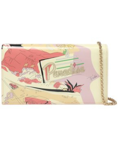 Printed Patent-leather Wallet Pastel Yellow Size --