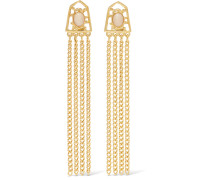 Gold-plated Stone Earrings