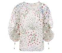 Neema Ruched Floral-print Fil Coupé Georgette Blouse