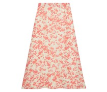 Maryam Printed Crepe De Chine Midi Skirt