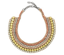 Silver-tone Beaded Necklace Mehrfarbig