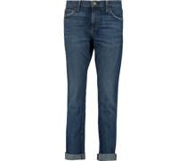 The Rendezvous Halbhohe Jeans mit Schmalem Bein in Distressed-optik
