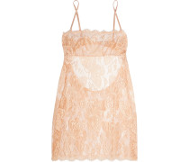 Chantilly Lace And Tulle Chemise Puder