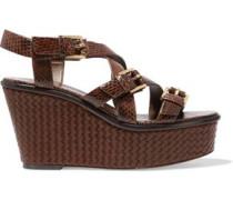 Varick elaphe wedge sandals