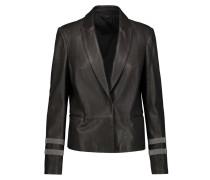 Embellished Leather Jacket Schiefer