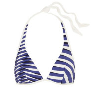 Op-Art printed triangle bikini top