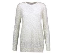 Rei Leopard-intarsia Silk Sweater Mint