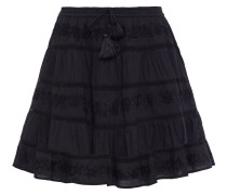 Anita Embroidered Cotton-gauze Mini Skirt