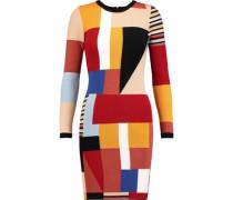 Hayden patchwork knitted mini dress