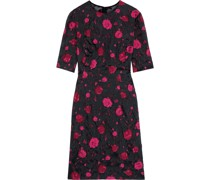 Woman Holly Embroidered Organza Dress Fuchsia