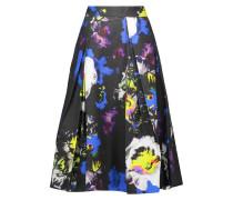 Lana Pleated Printed Cotton-blend Midi Skirt Mehrfarbig