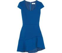 Stretch-twill mini dress