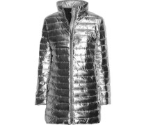 Metallic quilted shell jacket