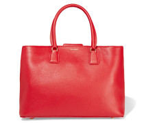 Textured-leather Tote Rot