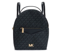 Jessa Color-block Textured-leather Backpack Navy Size --