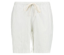 Kruger Striped Cotton And Linen-blend Shorts Weiß