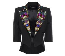 Cropped Embellished Wool-blend Jacket