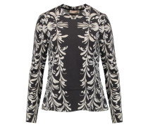 Printed Stretch-jersey Sweater Schiefer