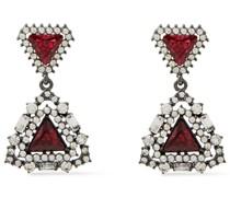 Oxidierte Silberfarbene Ohrringe mit Kristallen