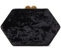 Sloane Box-clutch aus Samt in Knitteroptik