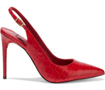 Ranay Croc-effect Leather Slingback Pumps
