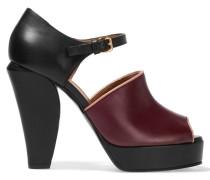 Leather Mary Jane Sandals Burgunder