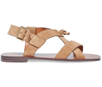 Knotted Leather Slingback als