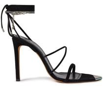 Hyne Verzierte Sandalen aus Veloursleder