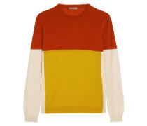 Color-block Merino Wool Sweater Gelb