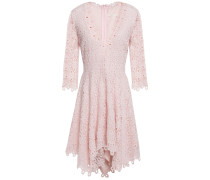 Asymmetric Guipure Lace Mini Dress