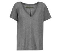 Marled Stretch-jersey T-shirt Anthrazit