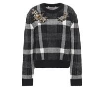 Deana Verzierter Pullover aus Gebürstetem Jacquard-strick mit Karomuster