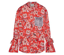 Elisia Printed Silk-charmeuse Shirt