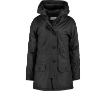 Kelly Coated-cotton Hooded Coat Schwarz