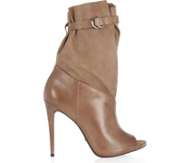 Leather And Suede Boots Champignon