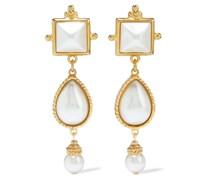 24-karat -plated Faux Pearl Earrings