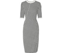 Anna houndstooth crepe dress