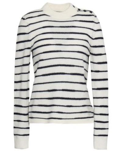 Striped Wool Sweater Ivory