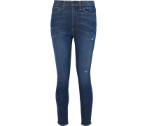 Good Cropped Distressed High-rise Skinny Jeans
