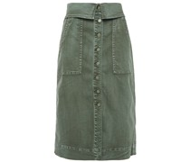 Andi Washed-denim Midi Skirt